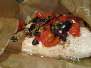 Steamed White Fish Provencal