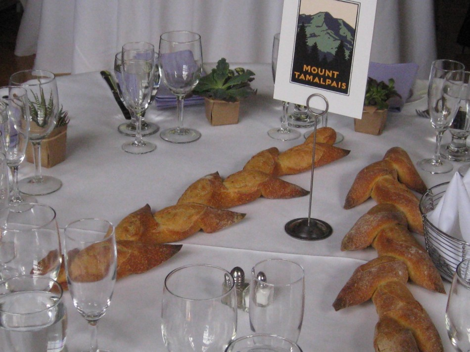 Baguettes on the table
