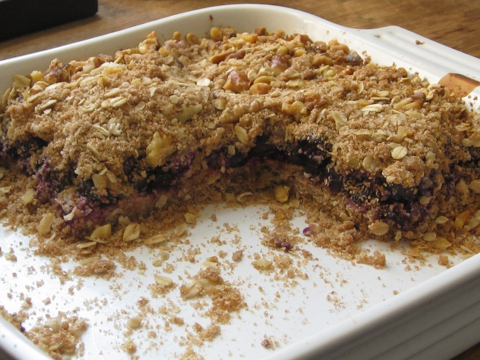 Blueberry Bars with Walnuts