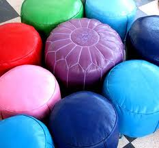leather poufs