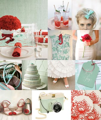 Wedding colors help wedding red blue color Retro Wedding Ideas Vintage