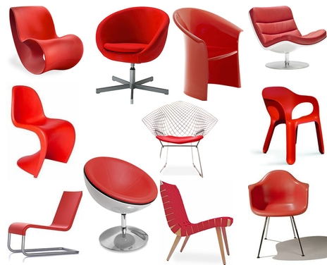 Candy Apple Red Chairs
