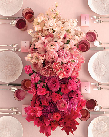pink ombre flower centerpiece