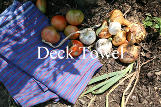 Deck Towel makes linen beach towels. Luxurious, 100% linen.