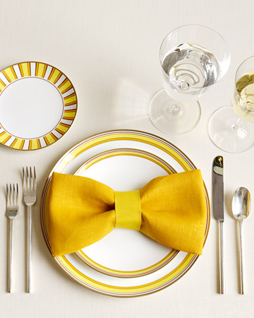 MS bow napkin fold