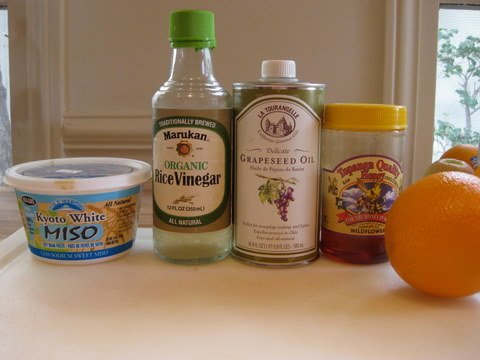 Orange Miso ingredients