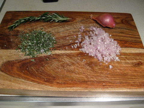 minced rosemary and shallot