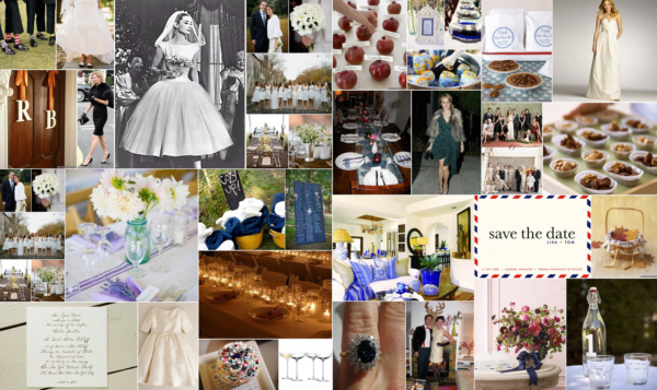 LE wedding inspiration collage