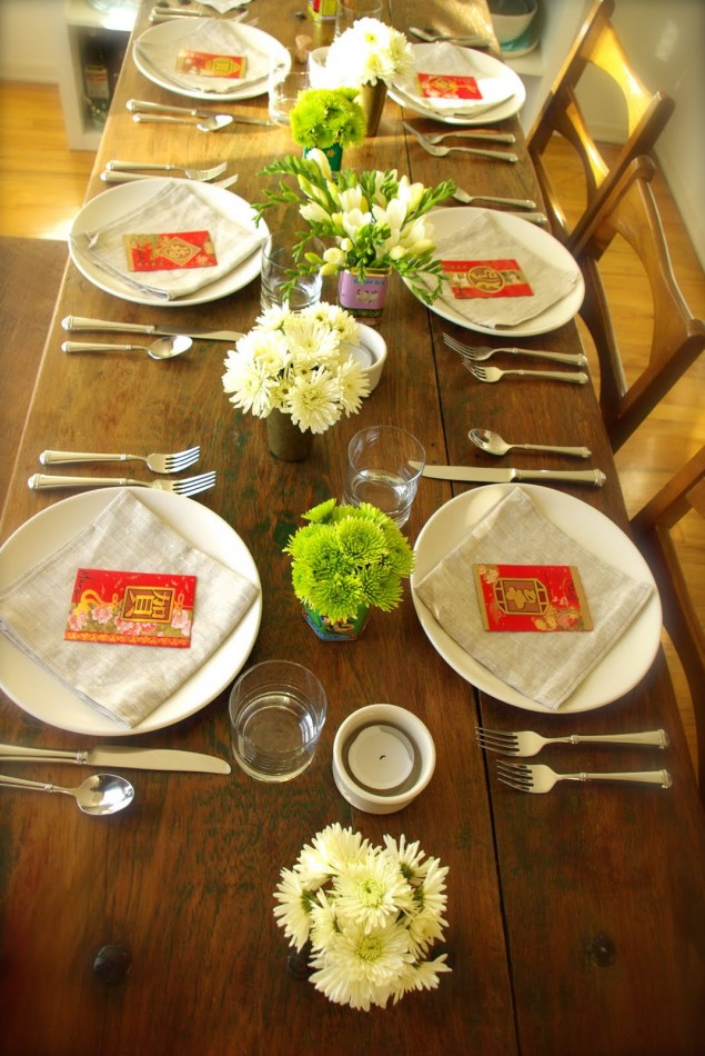 CNY table decor