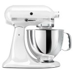 white kitchen aid stand mixer