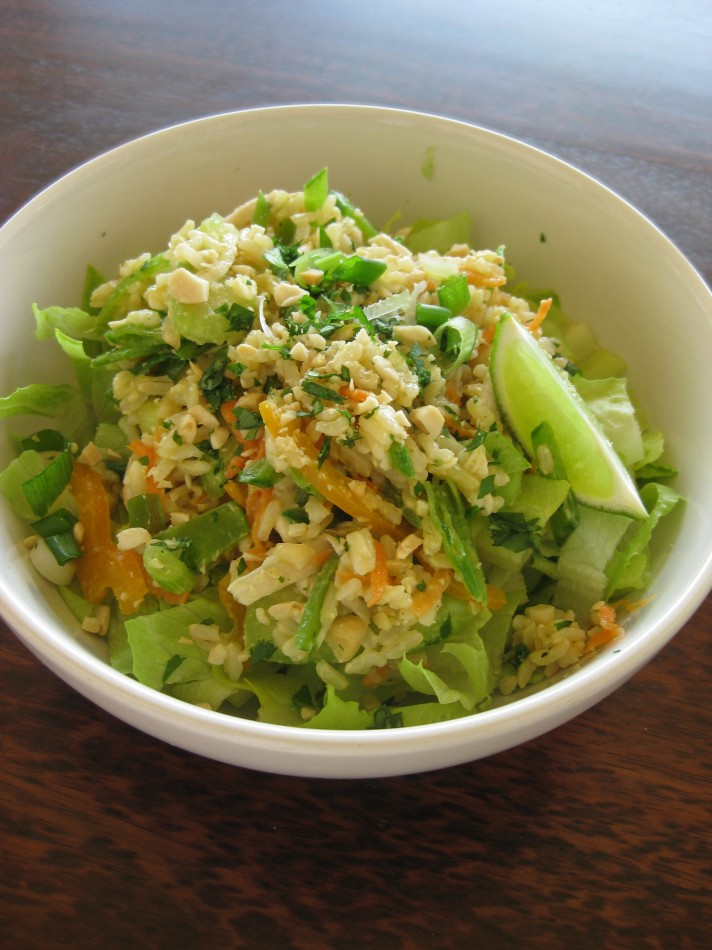 Sesame Brown Rice Salad- close