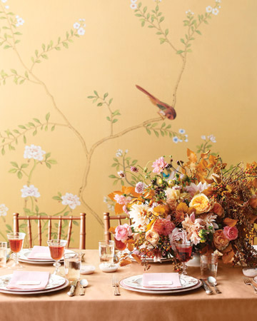 MS pink and copper dining room