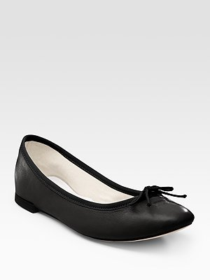 Repetto Black Ballet Flats