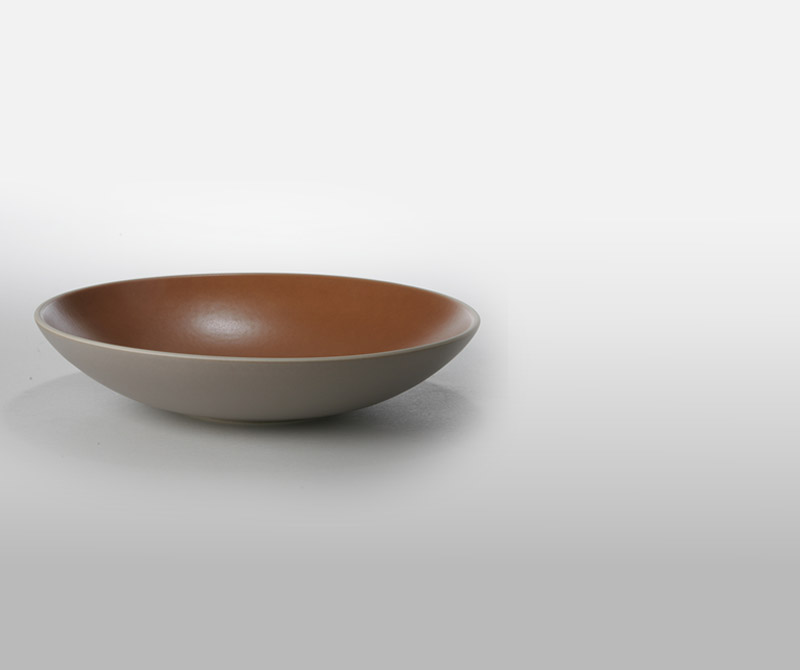 Heath Cermaics Bowl Persimmon/French Grey