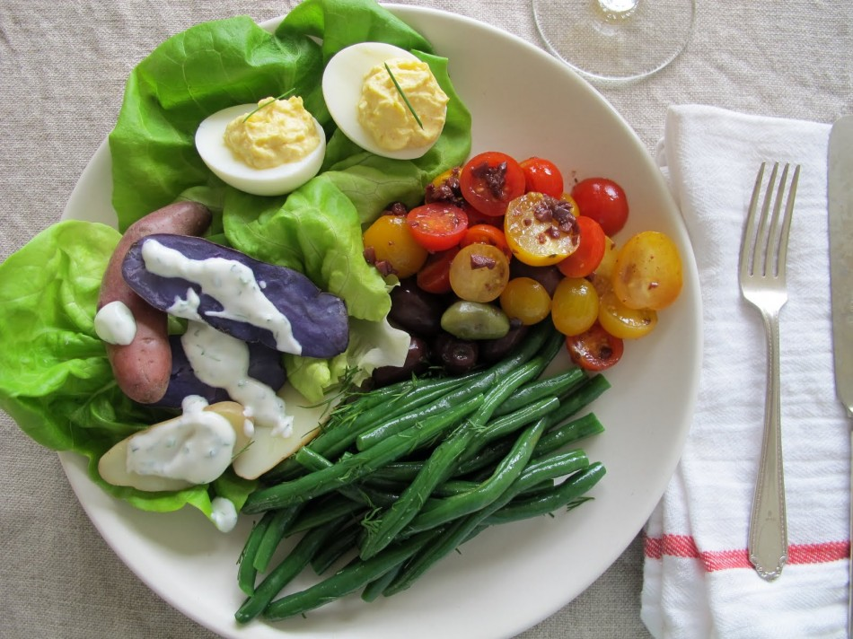 Veg Nicoise close up
