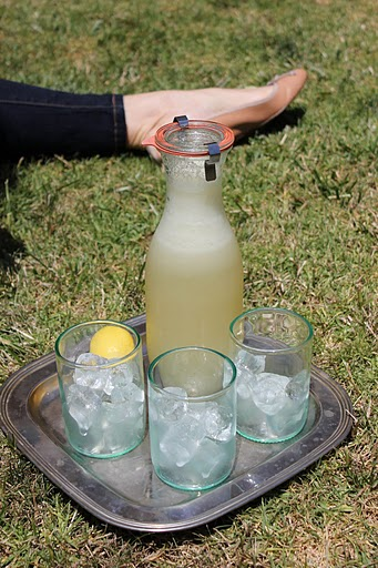 Sherry Lemonade in the grass