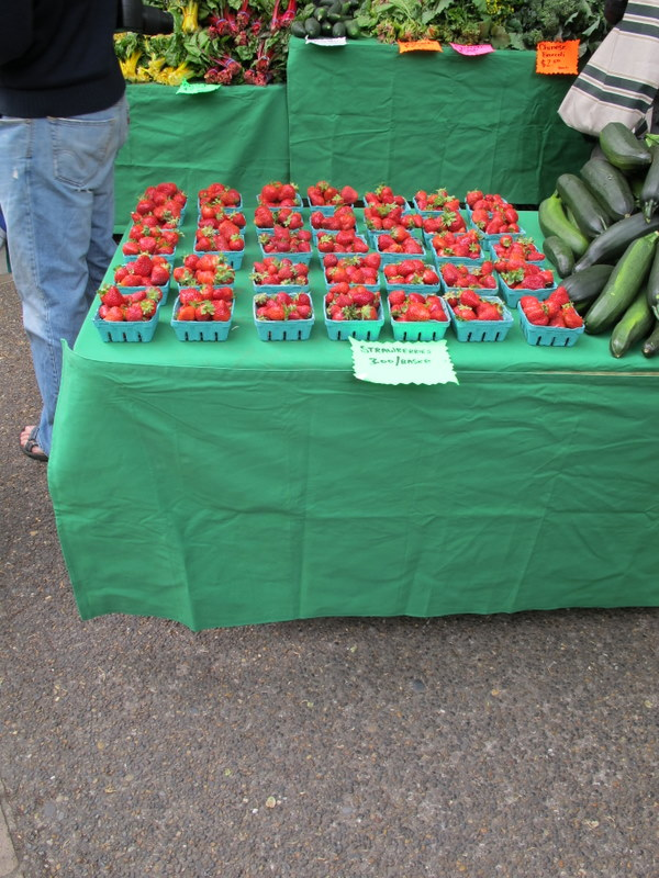 Strawberries at the Portland Farmer's Market
