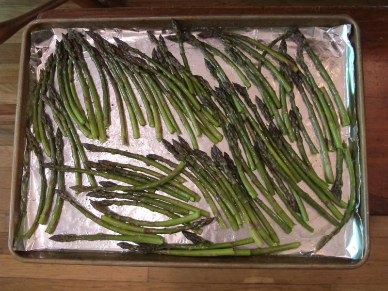asparagus ready to roast