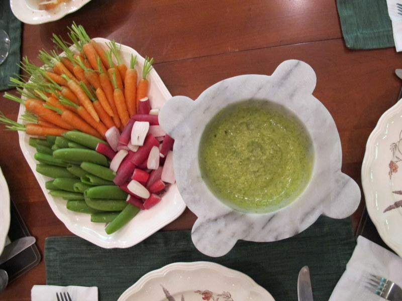 crudite with sorel aoili