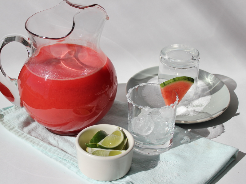 Fresh Watermelon Margaritas | Apples & Onions