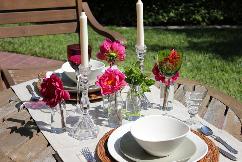 Elegant Outdoor Dinner Table | Apples & Onions