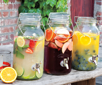 Napa Style Bale Jar Drink Dispenser