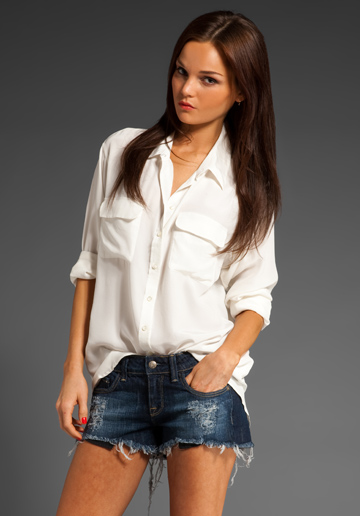 Equipment White Blouse