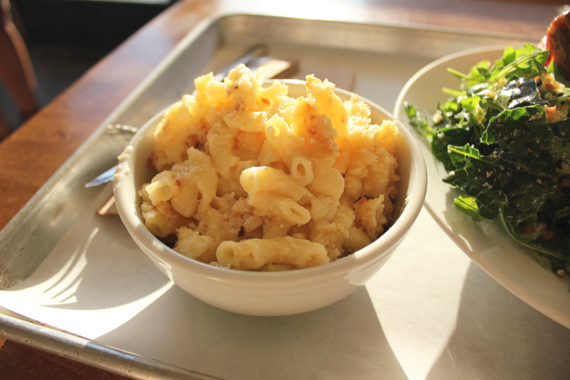 mac and cheese with cheddar and grana padano