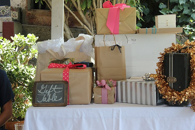 Pictures Of Wedding Gift Tables : On the sweeter side there was Prosecco and fresh orange juice for ...