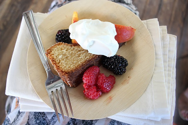 Almond Cake with Summer Fruit