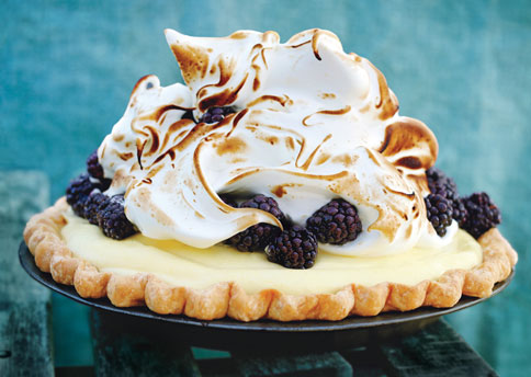 lime-blackberry-italian-meringue-pie