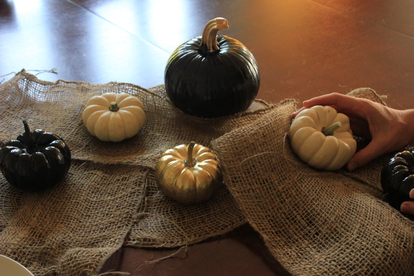 layering in the pumpkins