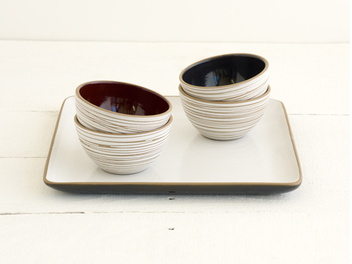 Heath Ceramics Etched Bowl & Tray Set