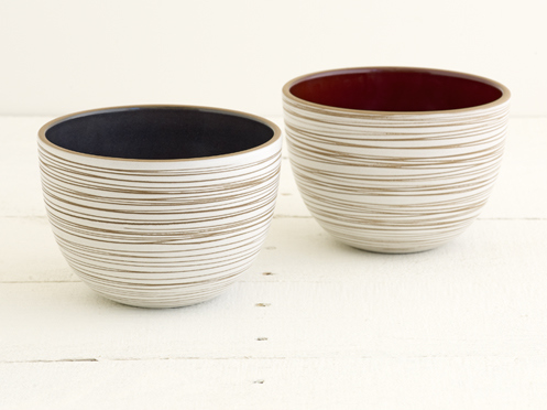 Heath Ceramics Etched Serving Bowls