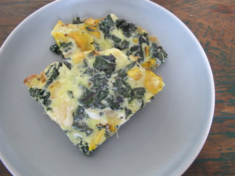 Squash and Kale Frittata slices