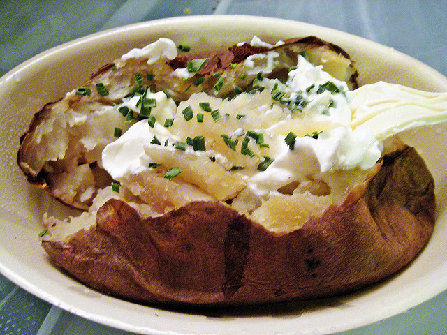 One-Bite Baked Potatoes And Sour Cream Recipe — Dishmaps