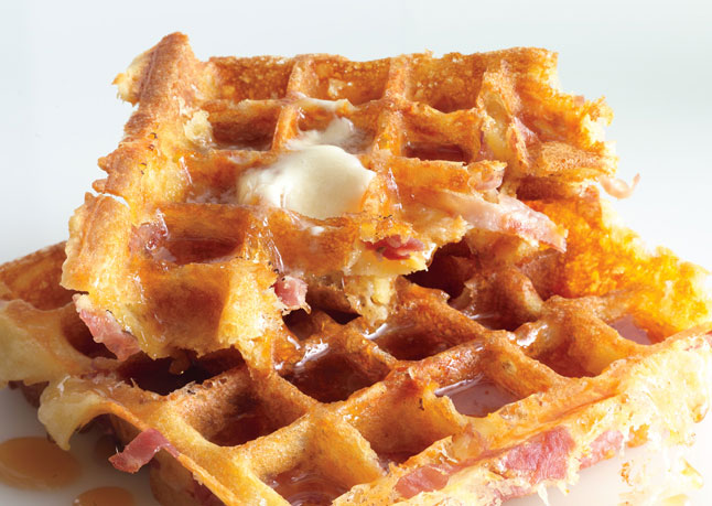 ham and cheese waffle recipe