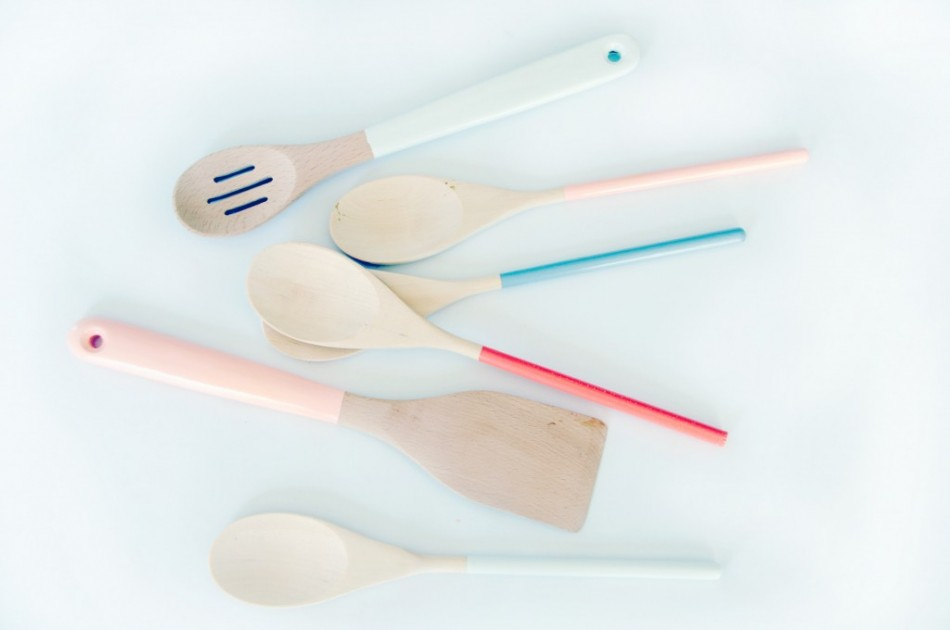 Pastel Painted Wooden Spoons
