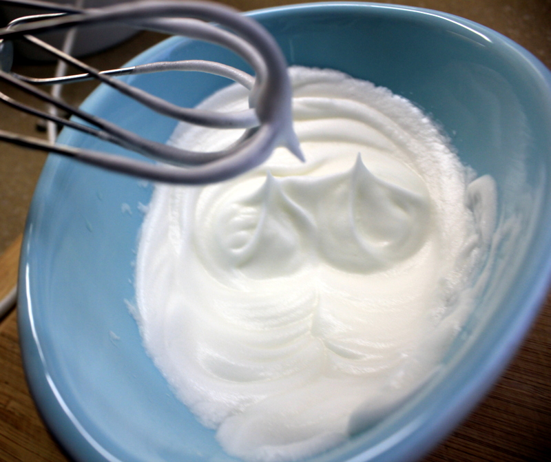beating egg whites into stiff peaks