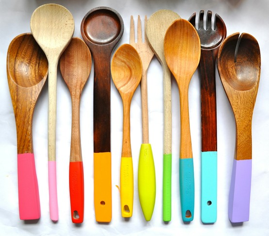 Colored Serving Spoon Handles