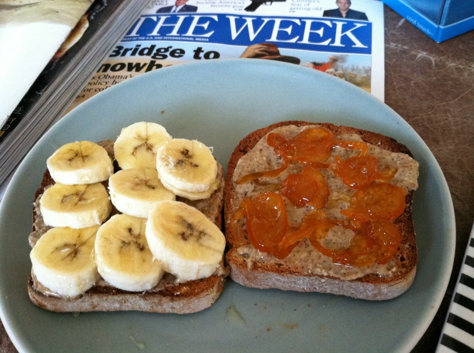 Toast with Almond Butter and Fruit