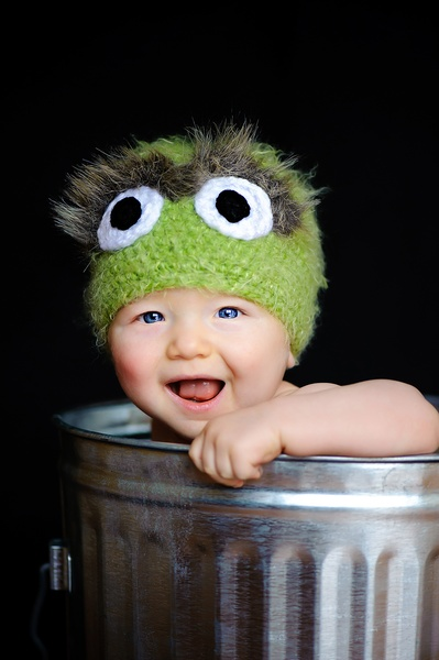 Oscar the Grouch baby image via