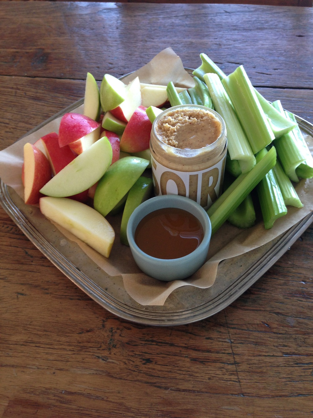 Apples Celery Nut Butter