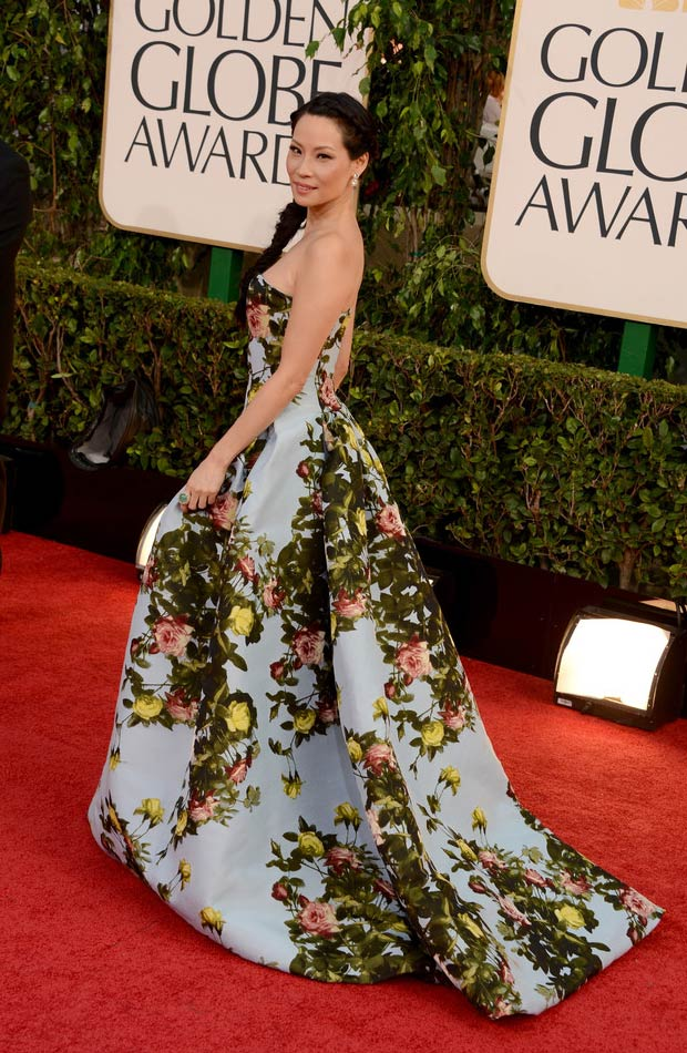 lucy-liu-2013-golden-globes-red-carpet
