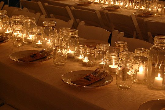Jars of Light Thanksgiving Table
