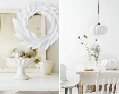 All White Thanksgiving Table Decor