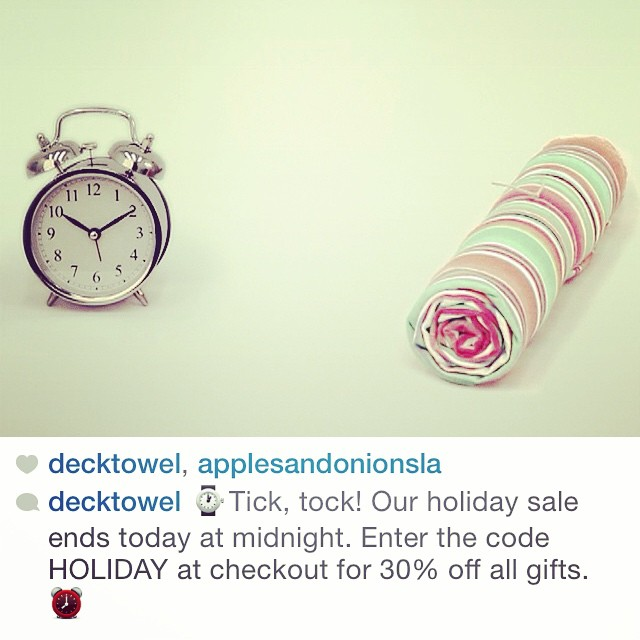 @decktowel is having a sale today! The perfect gift for those hard to shop for people in your life