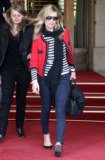 Kate Moss stripes and red